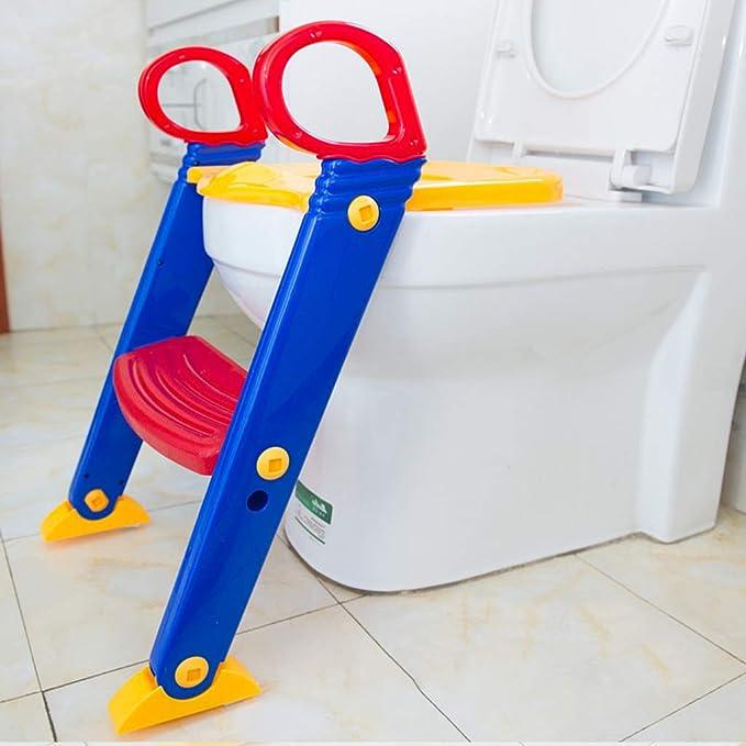 PP /Échelle WC 2 couleurs pour b/éb/é entraineur de pot en PU pour enfant de 1 /à 7 ans pot pliable avec escalier