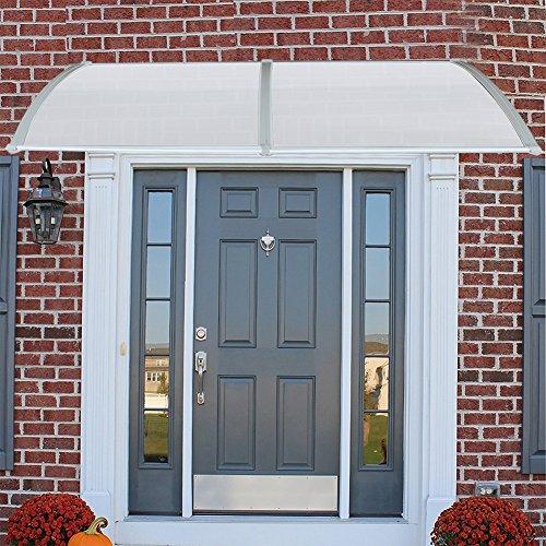 Pensilina Tettoia per Porta, in Alluminio, Tenda da Veranda Pensilina, per Porta o Finestra per Esterno, Disponibili in Diverse Misure (100 x 300 CM)