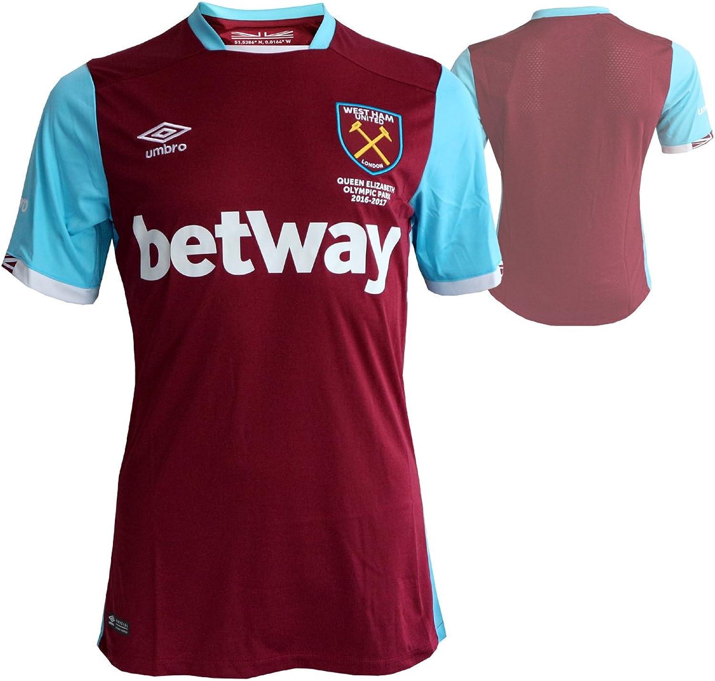 Umbro West Ham Home Short Sleeve Camiseta de Equipo. Hombre