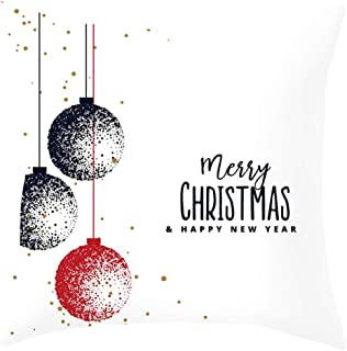 TIFENNY_Shirts Christmas Ragdoll Pillow Case Cushion Cover Sofa Home Car Christmas Pillow Case 3D Snowman Cover Decorative Covers