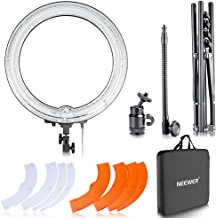 """Neewer 18"""" Dimmable Fluorescent Ring Light Kit: 75W 5500K Ring Light, Light Stand, Soft Tube, Filter and Bag for Photography YouTube Self Video Make-up"""