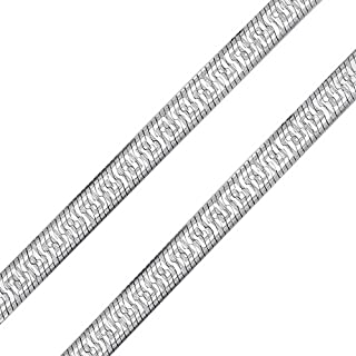 Flessibile Piatto Reversibile Chiave Greca Argento Sterling 925 Collana A Spina Pesce Per Donne Realizzato In Italia 16