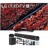 LG OLED65C9PUA 65' C9 4K HDR Smart OLED TV w/AI ThinQ (2019) w/Soundbar Bundle Includes Deco Gear 60W Soundbar with Subwoofer, 37-70' Low Profile Wall Mount Kit, 2.4GHz Wireless Keyboard and More