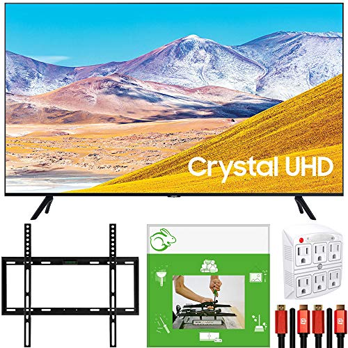 SAMSUNG 55-inch UN55TU8000 4K Ultra HD Smart LED TV (2020 Model) Crystal Processing 4K Bundle with TaskRabbit Installation Services + Deco Gear Wall Mount + HDMI Cables + Surge Adapter