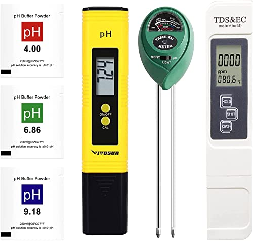new arrival PH Meter Tester Kit, BENBOR 3 in 1 Plant Soil Tester Kit, Digital pH and TDS outlet sale Meter Combo, High Accuracy and outlet sale LCD Display, Water Quality TDS Tester for Household Drinking, Pool and Aquarium sale