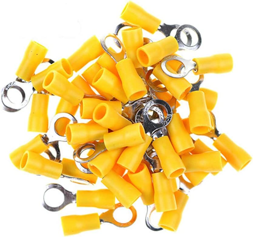25x Ring Terminal Connector Insulated 4,0-6,0mm² yellow