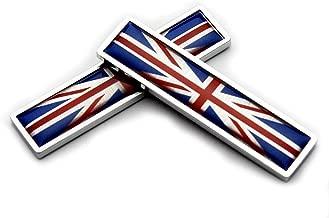 2pcs 3D Metal British flag Auto Car Side Fender Rear Trunk Emblem Sticker Badge Decals