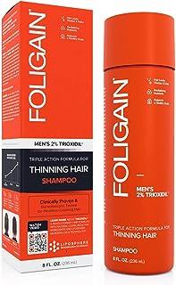 FOLIGAIN Triple Action Shampoo tegen haaruitval - Sulfaatvrije formule voor mannen - Met 2% trioxidil - 236 ml