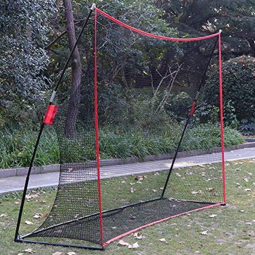 VENTDOUCE Golf Trainingsnetz mit Ständer Tragbares Golfnetz Faltbar Übungsnetz Schlagnetze Golf-Trainingsnetz mit Tragetasche für Garten Outdoor-3.3mx2.3mx1cm