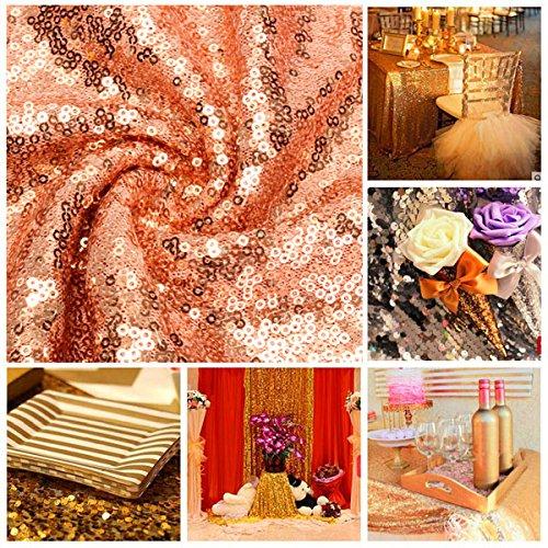 SGPL 30 * 180cm Rose gouden pailletten tafelloper bruiloft partij tafelkleed versieren