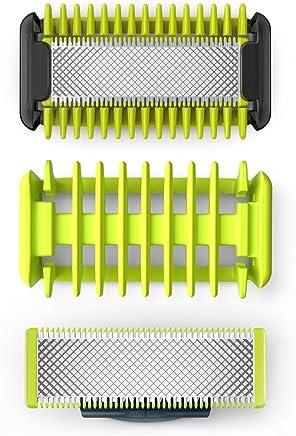 OneBlade QP620/50 Kit Lames Visage + Corps (2 Lames + 1 Système de Protection des Zones Sensibles + 1 Sabot Corps)