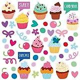 Wandkings Fliesensticker - Wähle ein Motiv - Cupcakes - Sticker für z.B. Fliesen, Fliesenspiegel in Küche & mehr