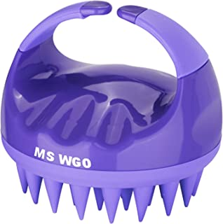 Silicone Hair Scalp Massager Shampoo Brush Scalp Brush For Hair Massager- Wet And Dry Use - Encourages Growth-1PCS (Purple)