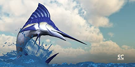 """product image for Sport N Care Marine Towel (Marlin Fly) Beach Towel 32"""" x 60"""""""