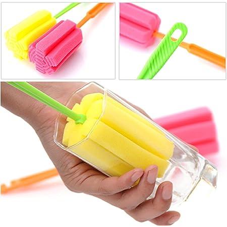 Spugna per pulire bottiglie, bicchieri, tazze, colori casuali