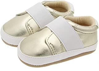 AIDEAR Baby Crib Moccasins Luxury Classic Manmade Leather Girls Boys Occasion Shoe Baby and Toddler First Walking Shoe