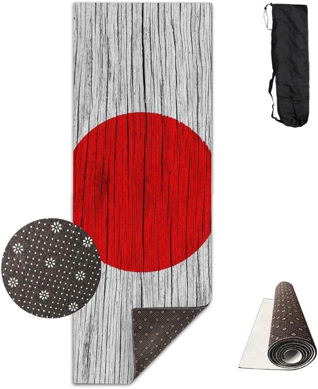 Japan Wooden Texture Japanese Flag ECO Aqua Power Kinematic Iyengar Kundini Hot Pilates Gymnastics Hatha Yoga Mat Exercise Mat