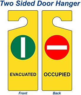Evacuated - Occupied Sign, 8x3 inch Plastic for Emergency Response by ComplianceSigns