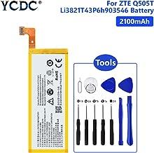 YCDC Li3821T43P6h903546 2100mAh Battery for ZTE Q505T Z792 Z813 N9130 with Tools,2100MAH LI3821T43P6H903546 Battery for ZTE Blade V220 N9130 Vital Speed +Tools