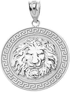 greek medallion pendant
