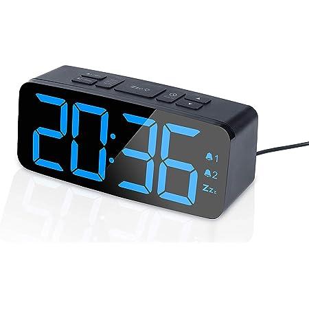 Digital Radiowecker mit Projektion USB FM radio UKW dimmbar Tischuhr Alarm