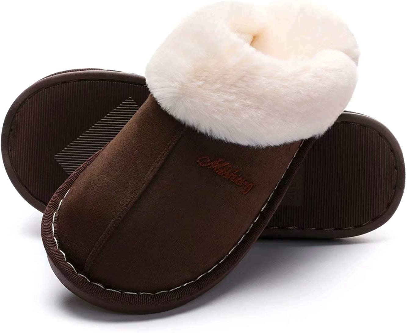 SincereWay Women's Inventory cleanup selling sale Low price Cozy Bedroom Slippers Sli House Fuzzy Outdoor