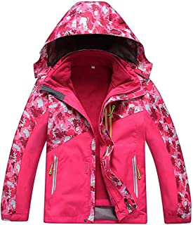 FARVALUE Girl's Winter 3 in 1 Jacket Warm Waterproof Windproof Hooded Ski Snow Coat for Girls