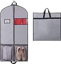 Mit Wasserabweisendem Vlies Mit eingebautem Sichtfenster Optimal f/ür unterwegs Dank robustem Tragegriff Maluma Premium Kleidersack Set Inklusive gratis Schuhsack