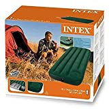 Intex Inflatable Rectangular Downy Camping Air Bed Mattress with Foot Pump (Multicolour, 66950)
