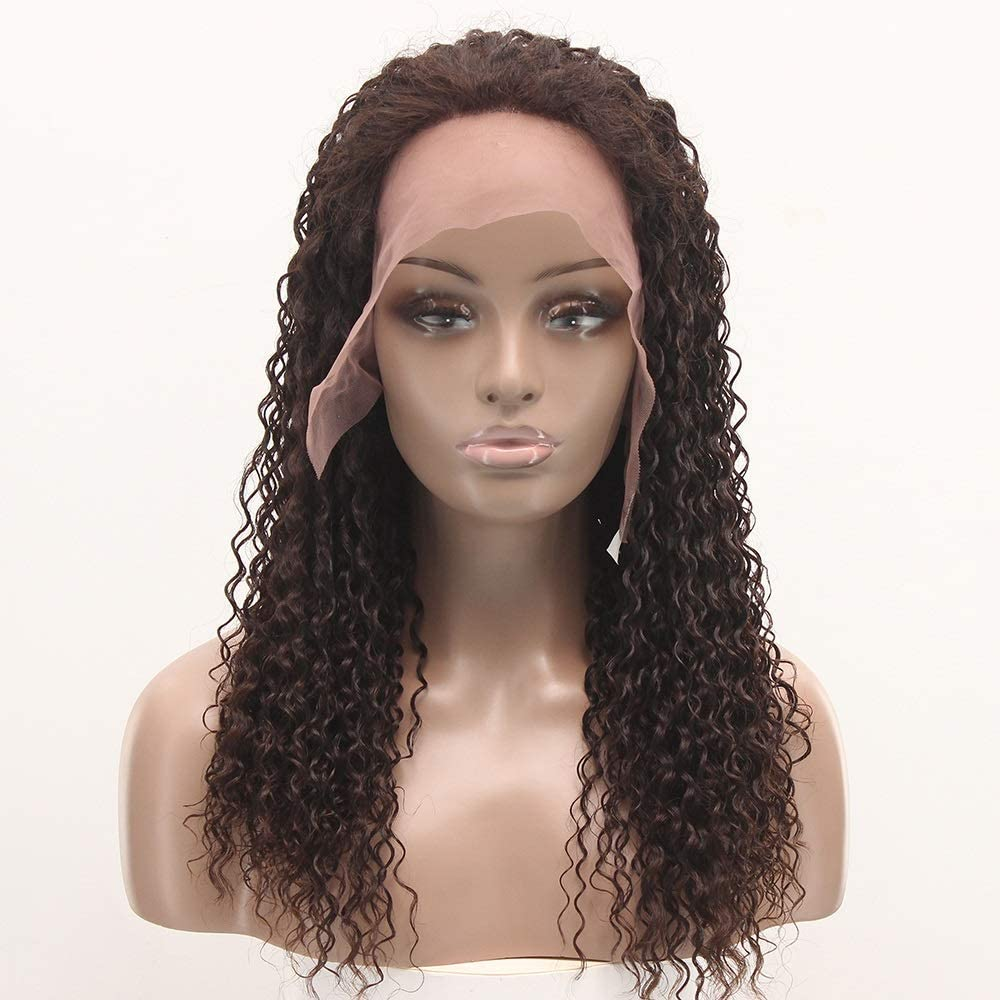 AXJTNL El Paso Mall Wigs African sold out Style Real Hair Long H Curly Brown lace