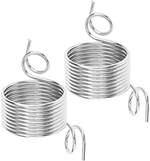 Baoblaze 2Pack Nickle Plated Wire Yarn Stranding Guide Knitting Thimble Crafts Supply