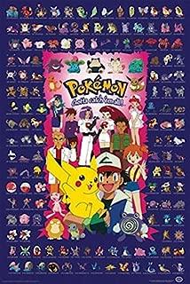 Buyartforless Pokemon - Blue - Characters Gotta Catch Them All 36x24 Pocket Monsters Art Print Poster