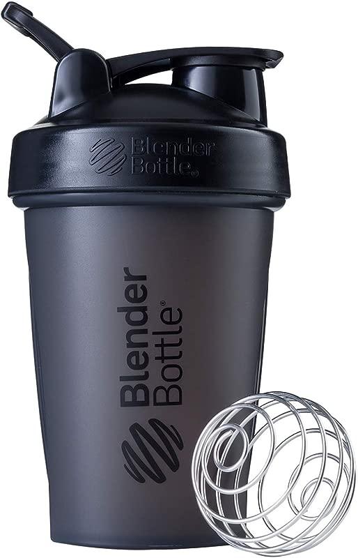 BlenderBottle Classic Loop Top Shaker Bottle 20 Ounce Full Color Black