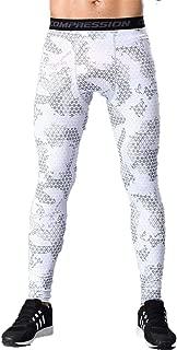 LANBAOSI Men's Camouflage Compression Shorts Workouts Tight Leggings Wicking Pants