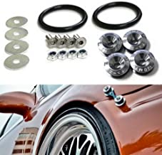 iJDMTOY Universal Fit Gun Metal Grey Finish JDM Quick Release Fastener Kit Compatible With Car Bumper Trunk Fender Hatch Lid