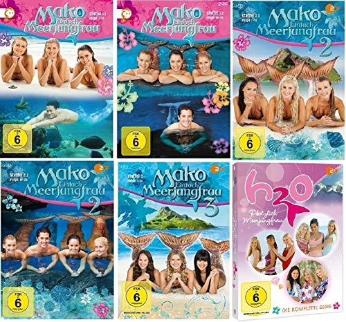 Mako Einfach Meerjungfrau Staffel 1-3 + H2O Plötzlich Meerjungfrau Staffel 1-3 [DVD Set]