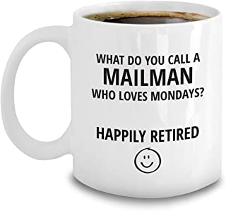 Retired Mailman Gifts - Funny Post Office Retirement Coffee Mug For Mail Man - Retiring Postal Worker Gifts
