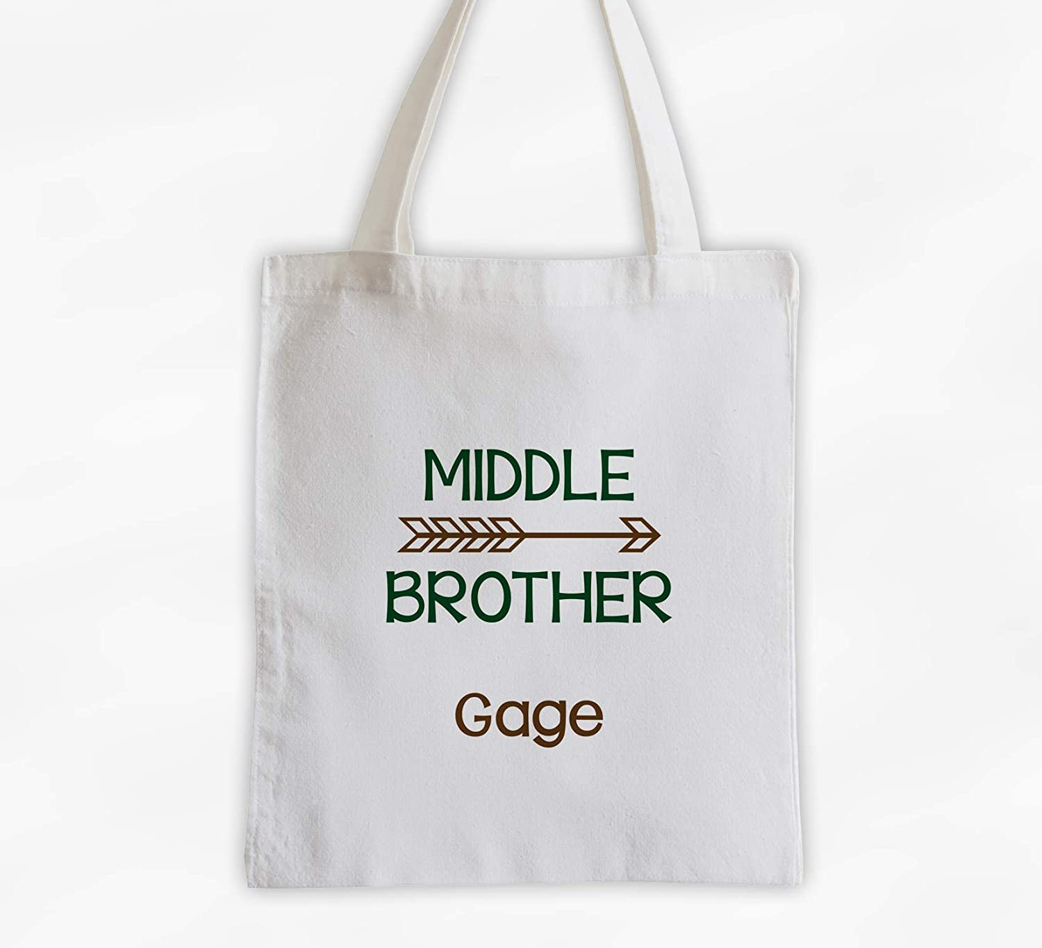Middle Brother Tote Bag with Arrow - Ov online shop Cotton Personalized Nashville-Davidson Mall Boys