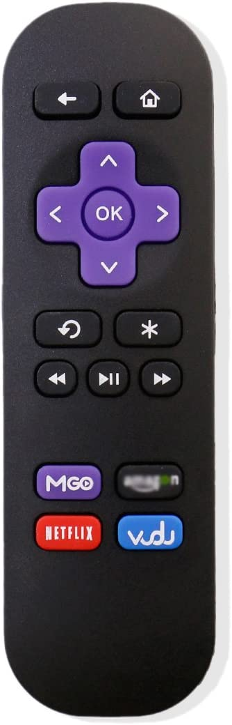 Bran New Remote Control for ROKU 1/2/3/4 Express/Premiere/Ultra with 4 Shortcut Keys,Does NOT Support ROKU Streaming Stick (3500x, 3600x HDMI or MHL) & ROKU TV(TCL, Sharp, Insignia, Hisense etc.)