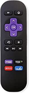 New Replacement IR Remote Fit for Roku 1 2 3 LT HD XD XS XDS Player with 4 Shortcut Buttons MGO VUDU, (NOT support ROKU Streaming Stick (HDMI or MHL) & TCL/Sharp/Insignia/Haier ROKU TV or Game)