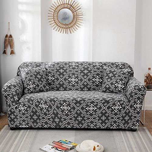 Fundas elásticas Funda de sofá elástica para Sala de Estar Funda de sofá seccional Funda de sillón en Forma de L A20 3 plazas