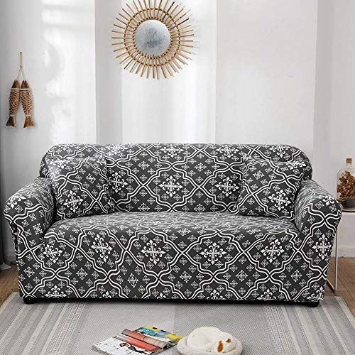 Fundas elásticas Funda de sofá elástica para Sala de Estar Funda de sofá seccional en Forma de L Funda de sillón A20 4 plazas