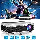 4500 Lumen LED Videoprojecteur HDMI HD avec Haut Parleur, 1280x800 Natif WXGA LED Home Cinéma...