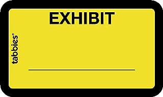 TAB58090 - Legal Exhibit Labels, Exhibit, 1-5/8x1,Yellow, 252 per Pack