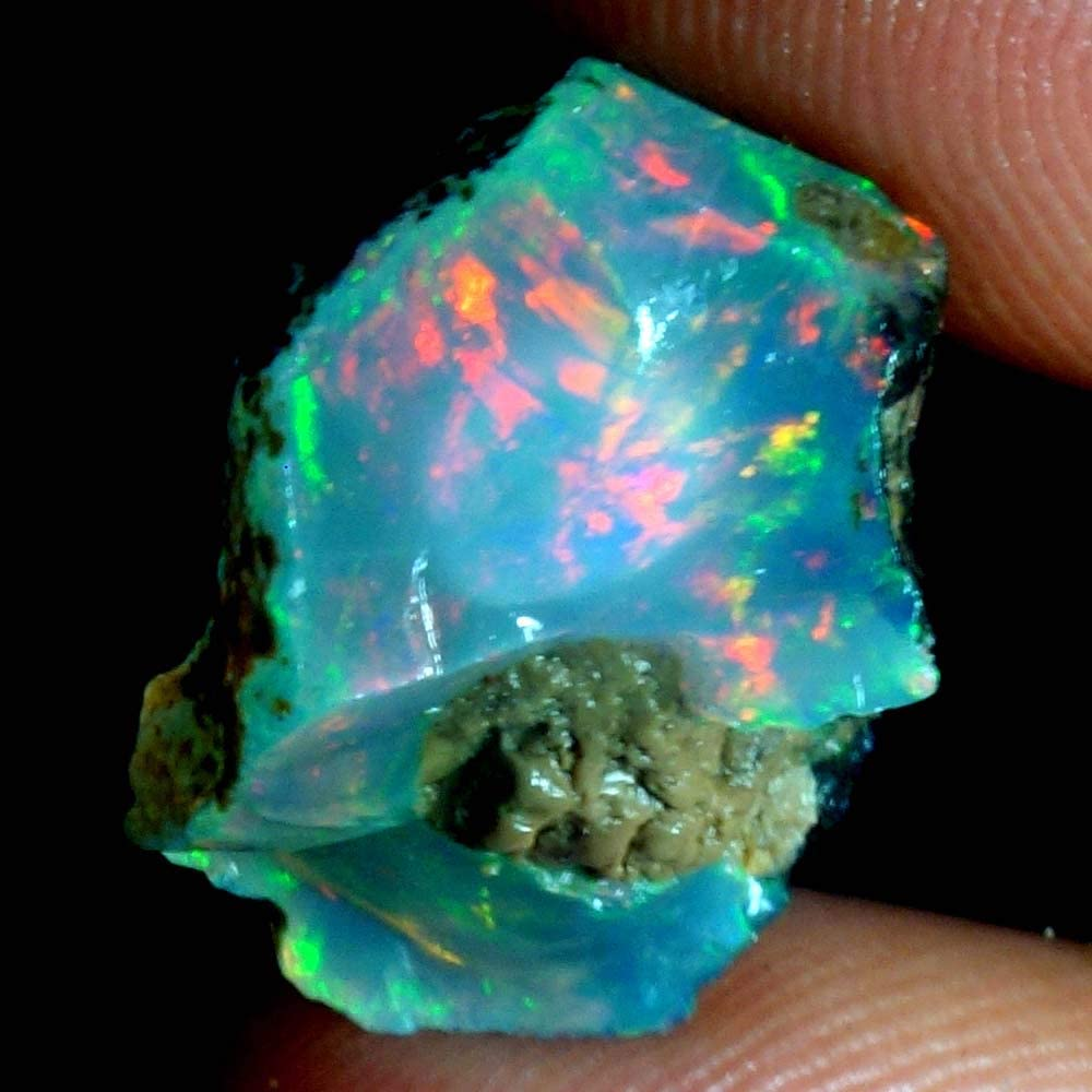 Year-end gift GEMSCREATIONS 16.80Cts. Beautiful Natural FIRE Ethiopian Ra Opal New popularity