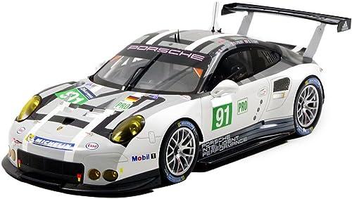Spaßk 18s274 rsche 991 911 R LMGTE Pro Le Mans 2016 Echelle 1 18, WeißSchwarzgrau