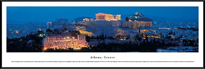 Blakeway Worldwide Panoramas Athens Greece Blakeway Panoramas Unframed Skyline Posters Posters Prints Amazon Com
