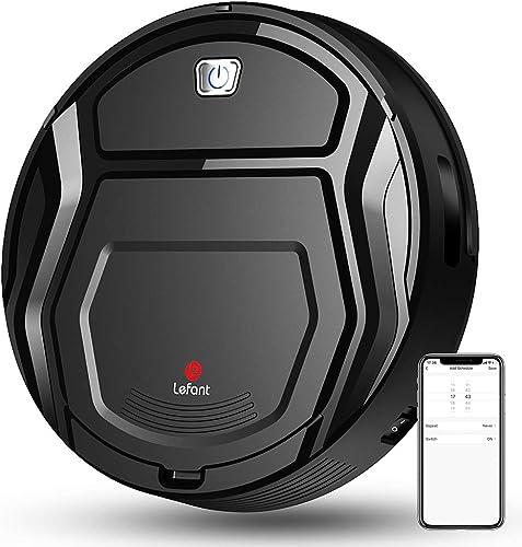 LEFANT Robot Aspirador 1800Pa con Robots Apiradors de 500 ml, con tecnología Sensor de colisión 6D Mejorado,Ideal par...