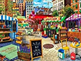 DIY 5D Diamond Painting for Adults,Calle de la tienda Full Drill Diamond Painting by Numbers Kits Large Embroidery Cross Stitch Rhinestone Diamond Art Crafts for Home Wall Decor Gifts-45x60cm/18x24in