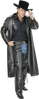Charades Range Rider Black Leather Duster